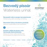 info ECOSTEP bezvodný pisoár