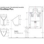 nákres ECOSTEP bezvodný pisoár